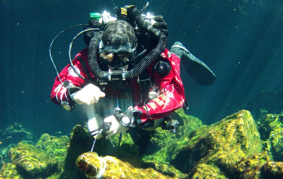 CCR Cave Diving In Mexico
