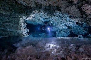 Sidemount Cave Diving in Halocline, Playa del Carmen, Mexico